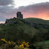 Corfe Castle in Spring
