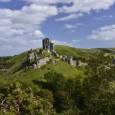 Corfe castle summer