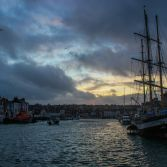 Weymouth harbour and tall ship Pelican