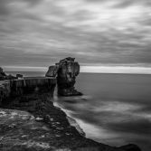 The Pulpit Rock, Portland in black and white