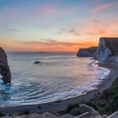 Durdle Door afterglow