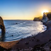 Summer sunset at Durdle Door