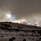 Moel Hebog in Winter. 'You guys go on, i'll catch you up later'.