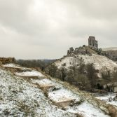 Corfe Castle winter