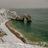 Durdle Door winter wonderland