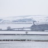 Dorset fields under snow cover