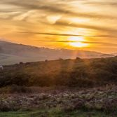 Sunset over Purbeck hills