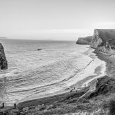 Black and white Durdle Door