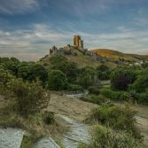 Sun kissed Corfe