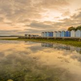 Beach huts on Hamworthy beach