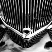 Vintage Sphinx car grill BW