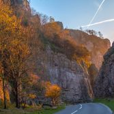 Autumn sunset Cheddar Gorge