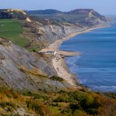Charmouth from Lyme landslip