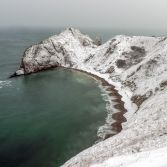 Man O War bay under a blanket of snow