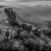 Corfe Castle moody morning