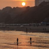 Sunset at Bournemouth beach