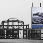 Brighton's West pier before and after