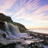 Osmington Mills Beach Waterfall