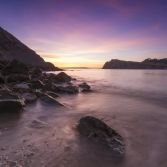 Lulworth Cove Winter Sunset