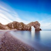 Motion Clouds over Durdle Door